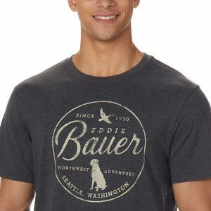 Eddie Bauer Men's Dark Gray Graphic Tee NWT